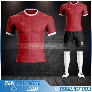 Áo đá bóng không logo vải Thái Lan cao cấp màu đỏ đô