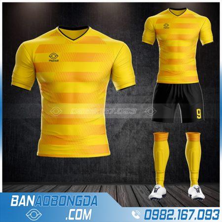 Áo đá bóng không logo mới nhất HZ 04 màu vàng