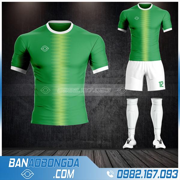 Áo đá bóng không logo Hacazi cao cấp màu xanh lá