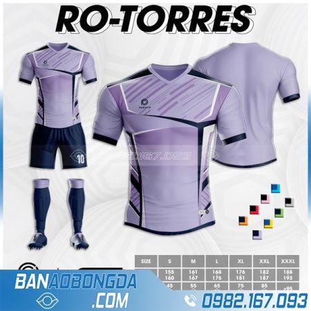 Áo bóng đá không logo màu tím Ro Tores đẹp