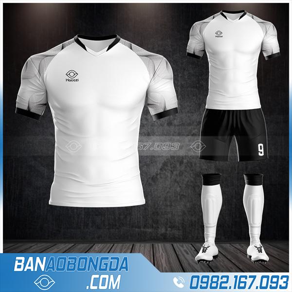 áo bóng đá không logo Hacazi màu trắng đẹp HZ 22