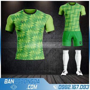 Mẫu áo bóng đá không logo màu xanh chuối đẹp HZ 35