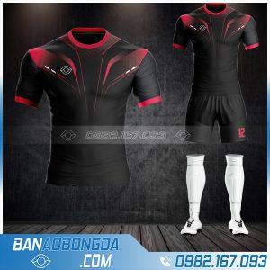 Mẫu áo bóng đá không logo màu đen đẹp nhất HZ 30