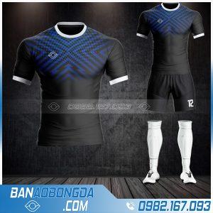 Áo đá bóng không logo Hacazi HZ 44 màu đen