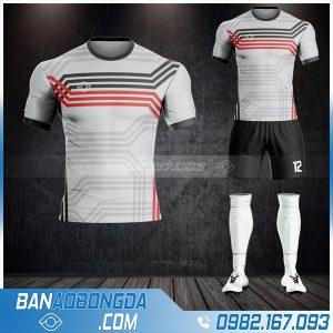 quần áo bóng đá không logo màu xám