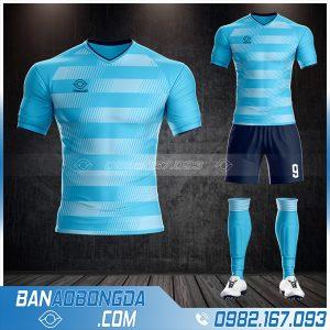Áo bóng đá không logo Hacazi màu xanh Ya