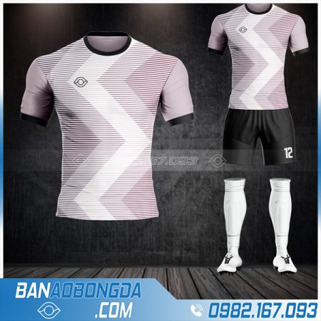 Quần áo bóng đá không logo xịn màu tím HZ 53