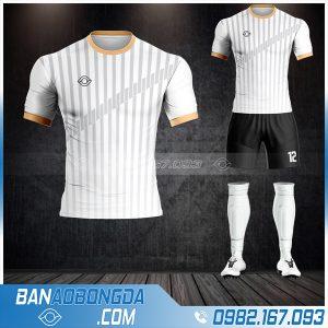 Áo đá bóng không logo đơn giản màu trắng HZ 55