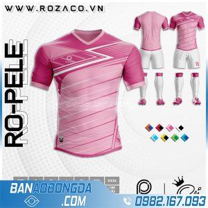 áo bóng đá không logo màu hồng đẹp ở Lai Châu
