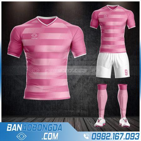 Áo bóng đá không logo màu hồng đẹp
