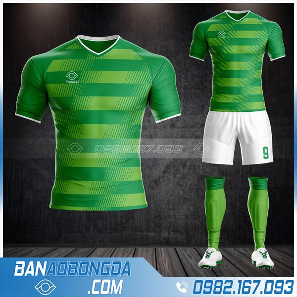 Áo bóng đá không logo màu xanh lá