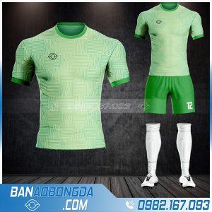 Áo bóng đá không logo màu xanh đẹp