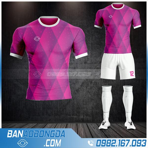 Áo bóng đá không logo màu hồng tím cực đẹp